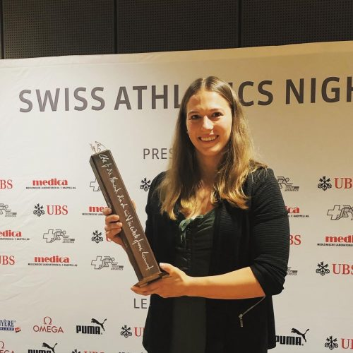 Angelica Moser erhält Swiss Athletics Award