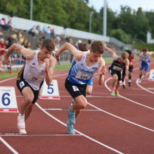 Jonathan Hofer läuft schneller als die Zeitmessung erlaubt!